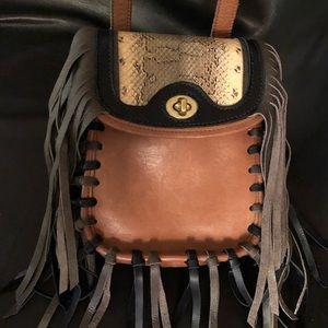 Coach crossbody saddle bag- modified